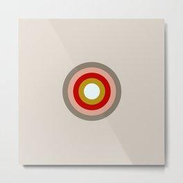 Colored Retro Circle 03 Metal Print