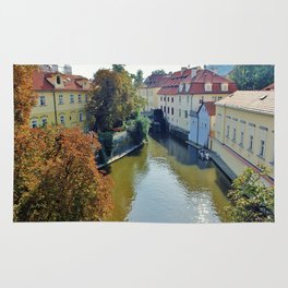 Watermill on Vltava River Rug