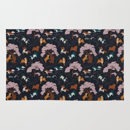 Cherry Blossom and Dog Dance Rug
