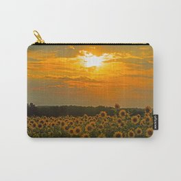 Field of Sunflowers at Sunset Carry-All Pouch