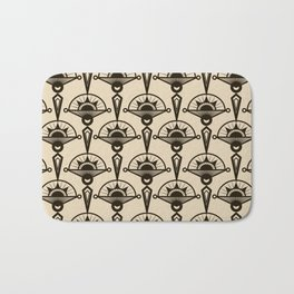 Seamless antique pattern art deco stylish print Bath Mat