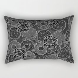 Dark donut | Love donuts | Goth donut | Donut Decor | Donut Designs Rectangular Pillow