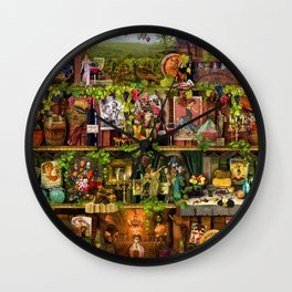 The Poetry of Wine Wall Clock