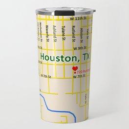 Map of Houston TX #1 Travel Mug