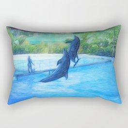 Dolphin dance Rectangular Pillow