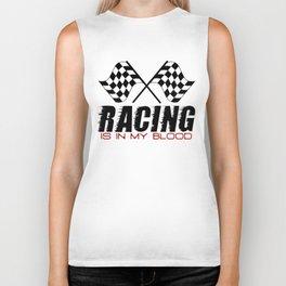 Racing Is In My Blood Biker Tank