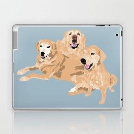 3 Golden Retrievers Laptop & iPad Skin