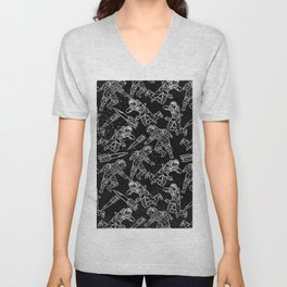Space Travellers-Fun Doodles - Mix and Match with Simplicity of Life Unisex V-Neck