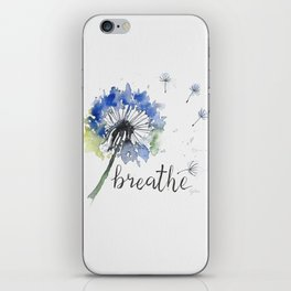 Breathe! Dandelion Floral Botanical Art iPhone Skin