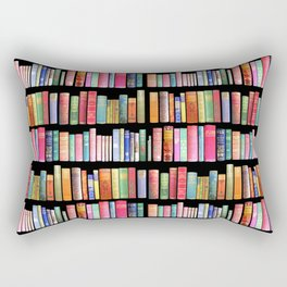 Antique Book Library for Bibliophile Rectangular Pillow