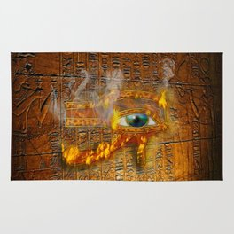 The Prophecy of Fire - Ancient Egypt Eye of Horus Rug