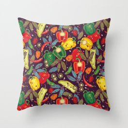 Hot & spicy! Throw Pillow