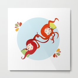 Tangerine and Talli the twins  Metal Print