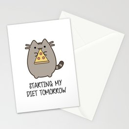 Starting my diet tomorrow Stationery Cards