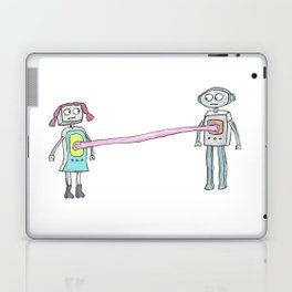 Two Robots, Stuck Together with Gum Laptop & iPad Skin