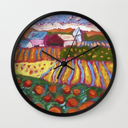Iowa Barn Wall Clock