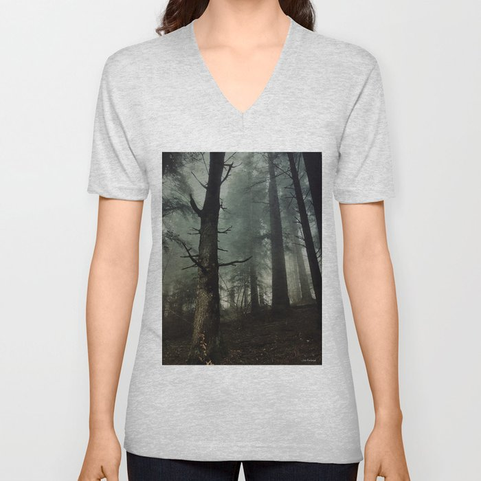misty forest Unisex V-Neck