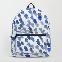 Imperfect brush strokes - blue Backpack