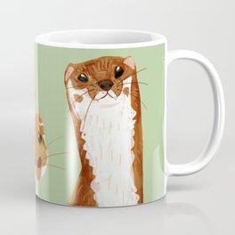 Funny Weasel ( Mustela nivalis ) Coffee Mug