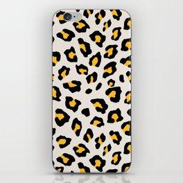 Leopard Print - Mustard Yellow iPhone Skin
