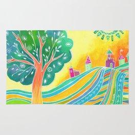Rainbow Field Rug