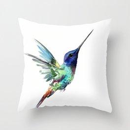 Flying Hummibgbird Throw Pillow