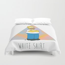 Homer S. (Blue Jeans, White Shirt) Duvet Cover