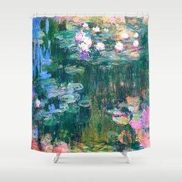 water lilies : Monet Shower Curtain