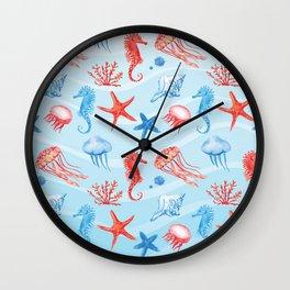 Marine Pattern 09 Wall Clock