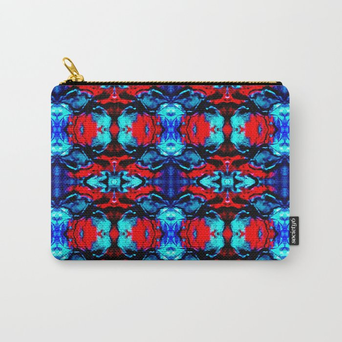 Red Blue Abstract Pattern Carry-All Pouch