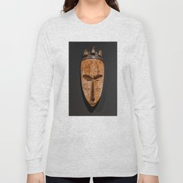 Cameroon fang ngil african wooden mask Long Sleeve T-shirt