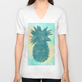 Tropical Pineapple Unisex V-Neck