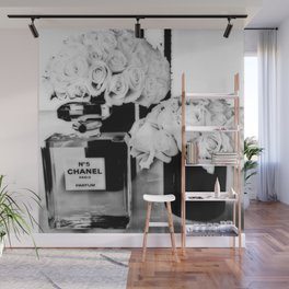 CHANELNo. 5 Black and White Wall Mural