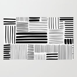 Black and White Abstract Pattern Rug