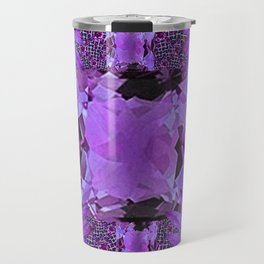 EXOTIC AMETHYST FEBRUARY  FLORAL FANTASY  ABSTRACT Travel Mug