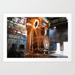 Pineville NC Textile Mill Spin Art Print