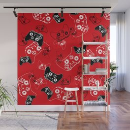 Video Game Red Wall Mural