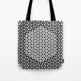 Flower of Life Black White 1 Tote Bag