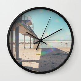 Scripps Pier Ocean Beach San Diego Wall Clock