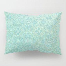 Green Watercolor Tile Pillow Sham