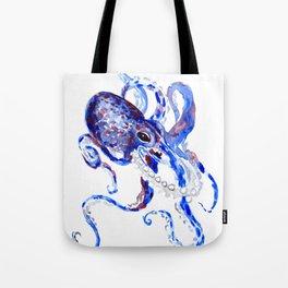 Blue Purple Octopus Tote Bag
