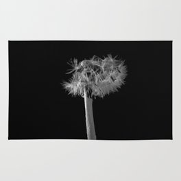 Monochromatic dandelion Rug