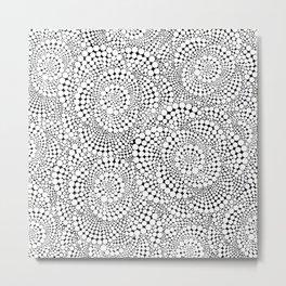 Flower-op-art Metal Print