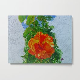 Flower- Part painting part drawing Metal Print