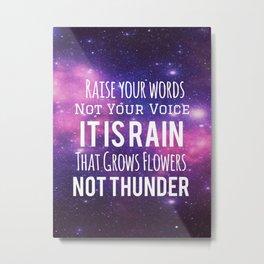 Rain Not Thunder Metal Print