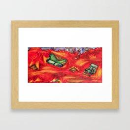 The Floor is Lava Framed Art Print