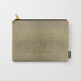 Gold and Silver Leaf Bridget Riley Inspired Pattern Carry-All Pouch
