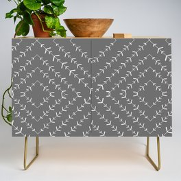 Gray and white varied vines Credenza