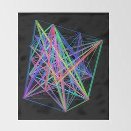 Colorful Rainbow Prism Throw Blanket