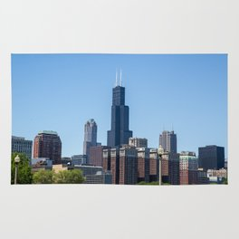 Willis Tower standing tall in downtown Chicago Rug